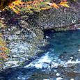 西明寺近くの清滝川
